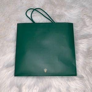Rolex crown shopping bag